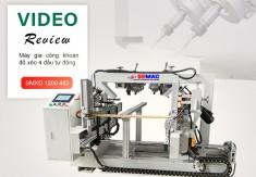 Review chi tiết máy khoan đố xéo 4 đầu tự động nâng cao năng suất