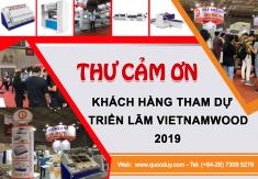 THƯ CẢM ƠN KHÁCH HÀNG THAM DỰ TRIỂN LÃM VIETNAMWOOD 2019