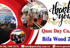 Thư cám ơn khách hàng tham dự Triển lãm Bifa Wood 2018