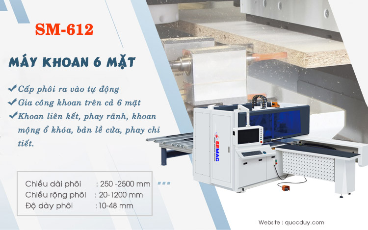 Máy khoan cnc gỗ công nghiệp – chuyền sản xuất nội thất tự động - www.TAICHINH2A.COM
