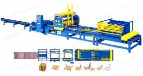 Automatic Stringer Wood Pallet Nailing Machine
