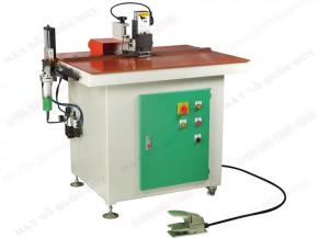 MANUAL EDGE TRIMMING MACHINE EQUIPPED WITH CUT-OFF DEVICE